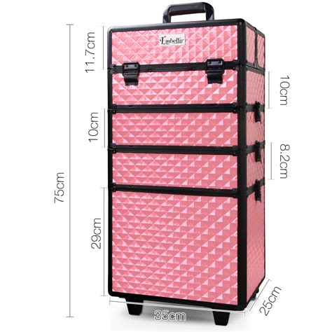 Doctor Pink Trolley 3 In 1 buy 7 in 1 portable make up cosmetic trolley pink at ikoala au