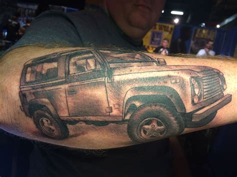 sw tattoos land rover defender 90 sw done by megan hoogland