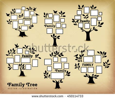Vector Template Photo Frame Card Your Stock Vector 395865133 Shutterstock Tree Photo Collage Template