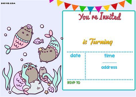 printable cat card template free printable birthday invitations bagvania
