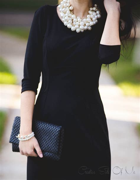 Dress Pearl black dress and pearls creative side of me