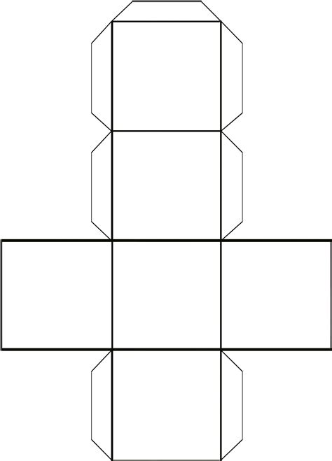 templates for folded boxes 5 best images of folding cube pattern printable foldable