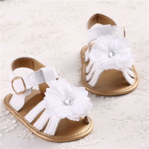 buy baby infant summer flower prewalker white soft sole