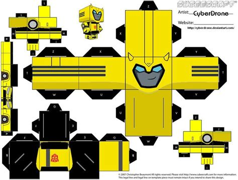 How To Make A Paper Transformer Bumblebee - paper crafts transformer animated bumblebee