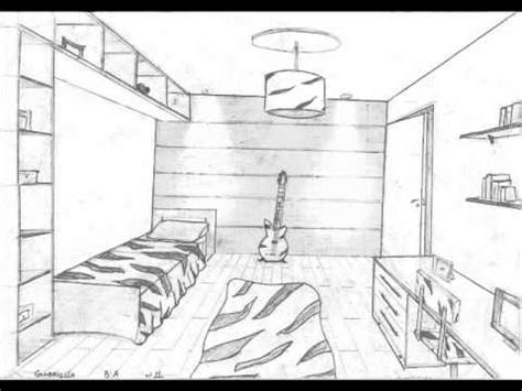 Bedroom Drawing 1 Point Perspective Aula Perspectiva 8os Anos