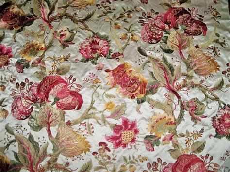 embroidered fabrics pierre frey braquenie jacobean beaumesnil embroidered silk
