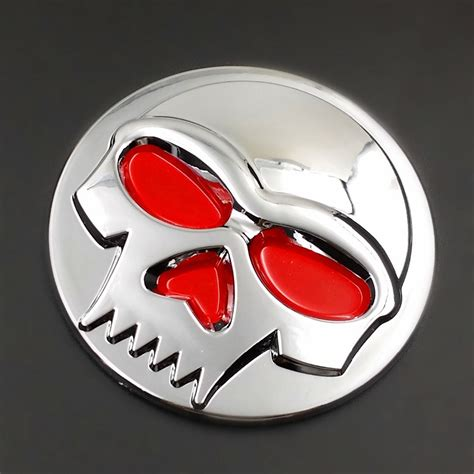 kawasaki emblem chrome skull logo emblem badge decal tank sticker for