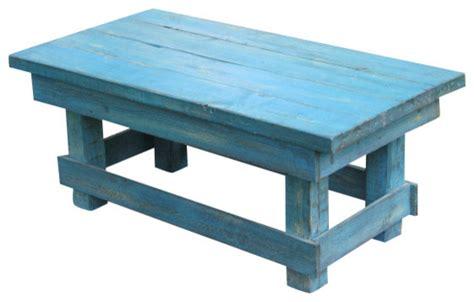 Aqua Distressed Coffee Table Rustic Turquoise Rustic Distressed Turquoise Coffee Table