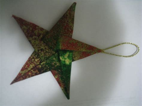 elegant fabric star origami christmas tree ornaments by