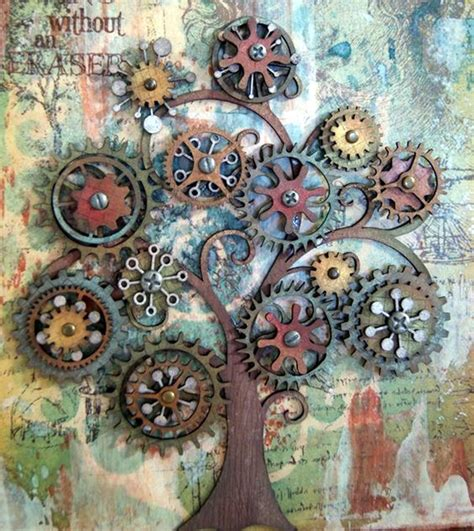 Wall Tree Sticker 30 diy mixed media tree art projects