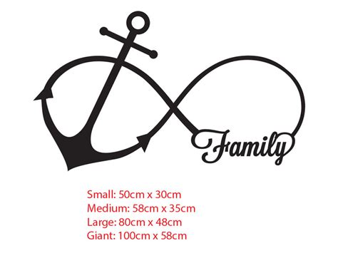 infinity anchor family anchor infinity symbol wall sticker