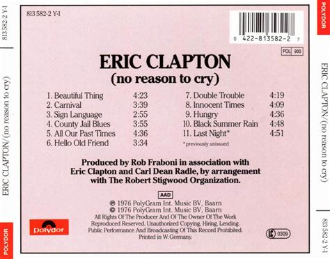Eric Clapton – No Reason To Cry | The Bopping Elf Megashares