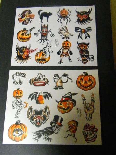 halloween tattoo flash flash related keywords suggestions