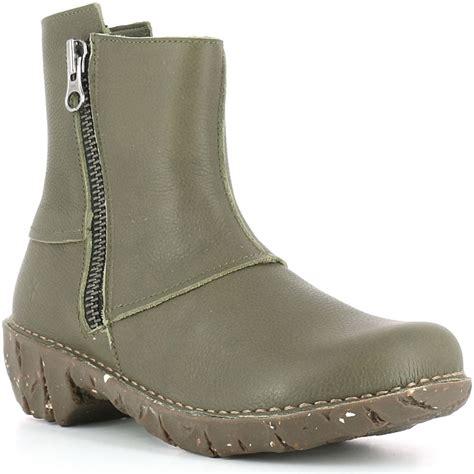 el naturalista ne28 yggdrasil kaki leather zip up ankle