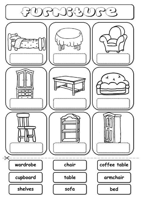 my house printable activities furniture drag and drop interactive worksheet my