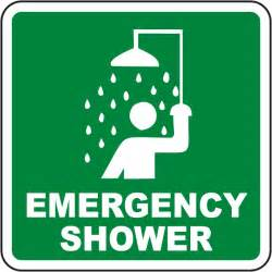 emergency shower sign emergency shower sign by safetysign d4565
