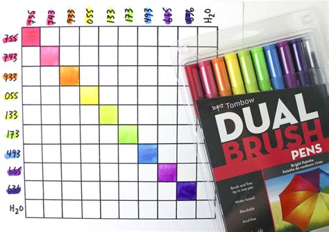 Tombow Dual Brush Bright Palette Set Tombow Dual Brush Set 10 how to mix and blend colors with tombow dual brush pens tombow usa