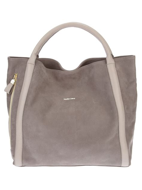 Tote Bag By see by chlo 233 tote bag in gray lyst