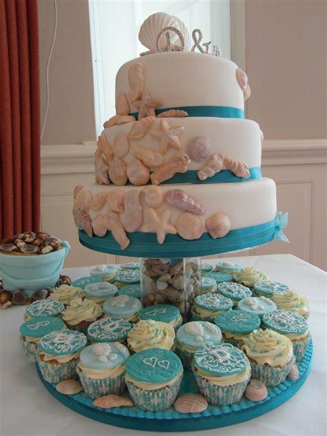 wedding cake toppers beach themed wedding cake design