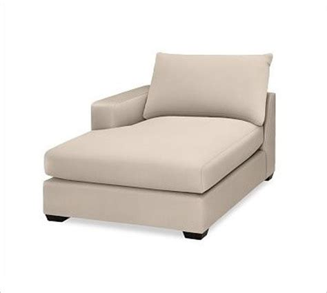 upholstered chaise lounge with arms hton upholstered left arm chaise brushed canvas stone
