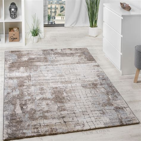 teppich grau beige classic designer rug stonewall visual effect with raised