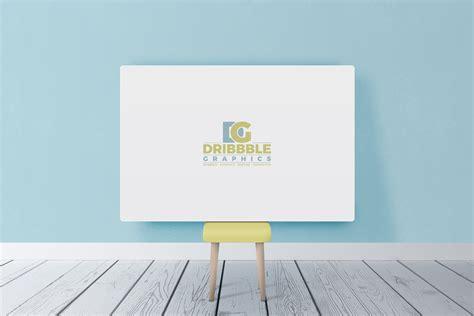 poster design horizontal free beautiful horizontal poster canvas in room mockup