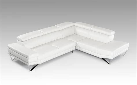 White Italian Leather Sofa David Modern White Italian Leather Sectional Sofa