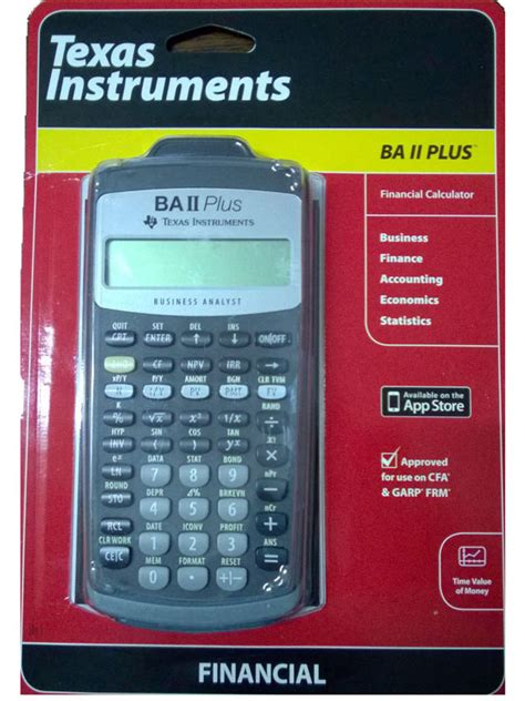 Mba Plus Actuary by Instruments Ba Ii Plus Financial Calculator
