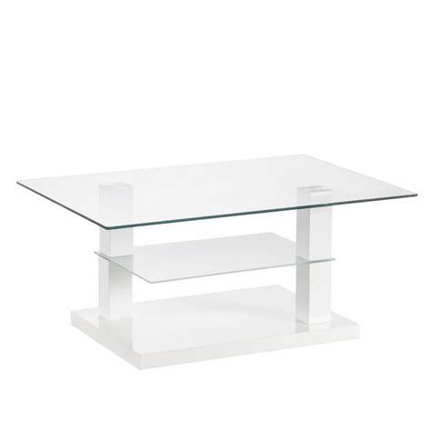 bianco glass tavolino basso modello quot glass quot vetro bianco 90x60x40h cm