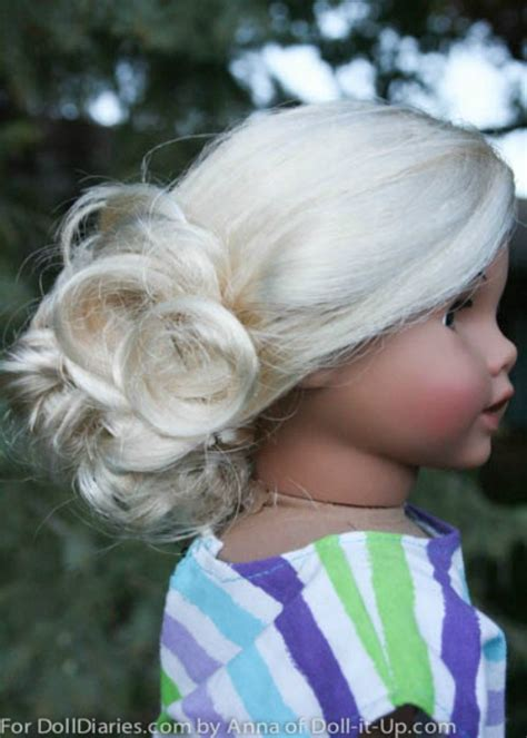Doll Hairstyles For American by American Doll Hairstyles Up Is Sweeter