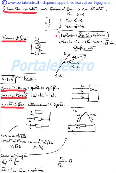 elettrotecnica dispense formulario di elettrotecnica sul sistema trifase