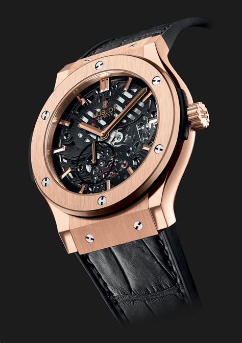 hublot watches hublot classic fusion thin skeleton
