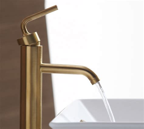 Kohler Purist Bathroom Faucet by Brushed Gold Bathroom Faucets By Kohler