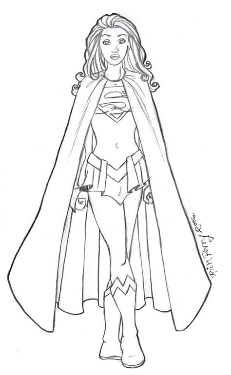 supergirl coloring page az coloring pages