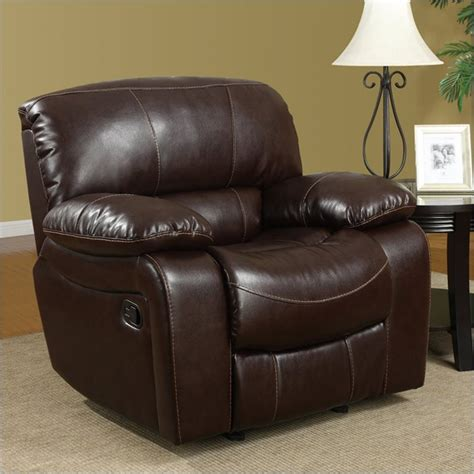 leather glider rocker recliner leather glider recliner chair in burgundy dcg stores