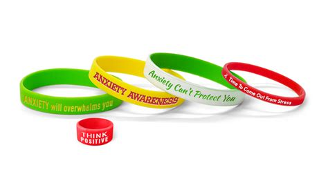 Color Combinations Online anxiety awareness wristbands custom made create