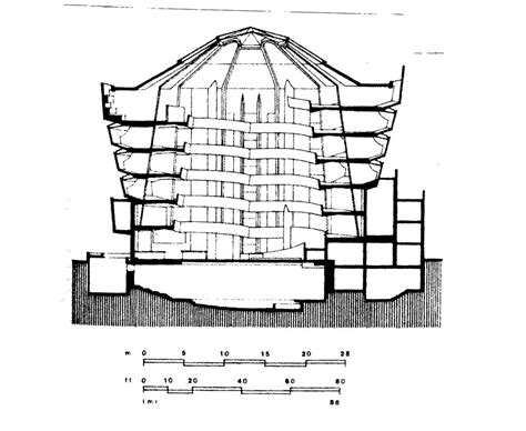 new york sections doc107 13276 cross section guggenheim museum new york