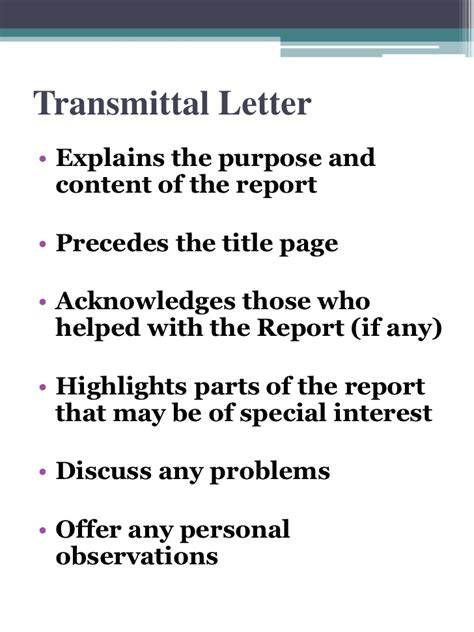 Transmittal Letter Sle For Research Paper Recommendation Report