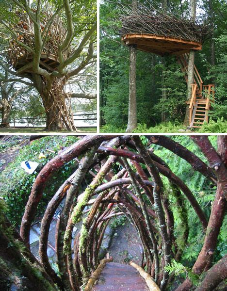 organic architecture  exotic tree houses hanging huts