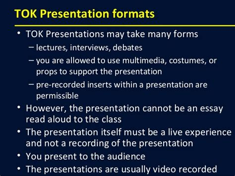 How To Make A Great Theory Of Knowledge Presentation Ib Tok Presentation Ideas