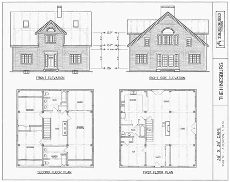 Architectural Plans Online by Post Beam House Plans Timber Frame Drawing Packages