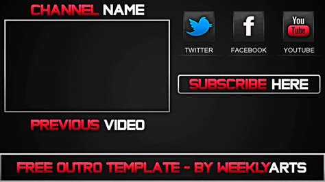 Outro 2 Old School Outro Template After Effects Youtube Outros Templates
