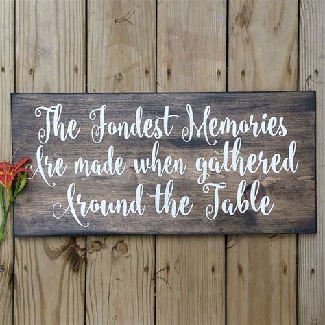 Dining Room Sign by Dining Room Sign The Fondest Memories Are Made When