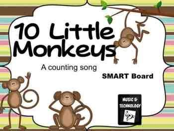 10 monkeys jumping on the bed 10 little monkeys jumping on the bed smart board lesson teachers pay teachers