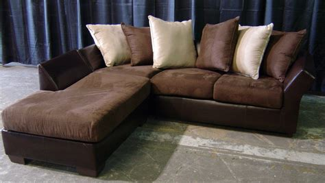 Suede Sectional Sofas Brown Leather And Suede Sofa With Chaise Event Companies Orlando