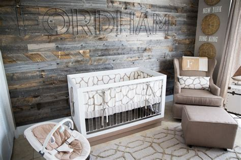 Rustic Baby Cribs For Sale Serene Travel Themed Nursery Contemporary Nursery New York By Antonelli