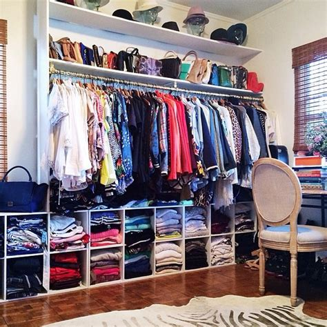 organize closets in the best way with these tips aimee song s closet the use of cubbies is an inexpensive