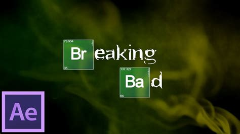 template after effects breaking bad after effects tutorial breaking bad intro youtube