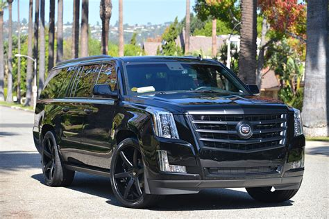 White Cadillac Escalade With Black Rims Images