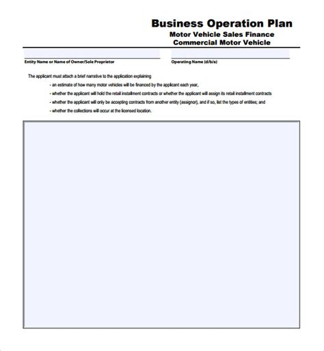 sle operational plan template 10 free documents in